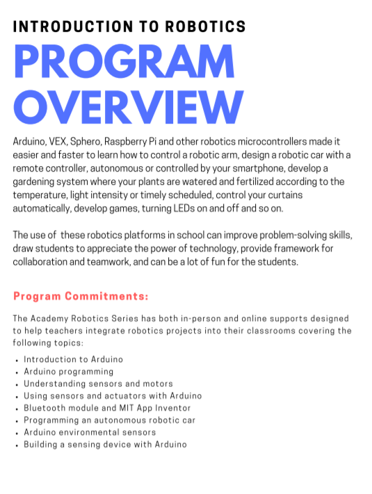 Math Botics - Program Overview